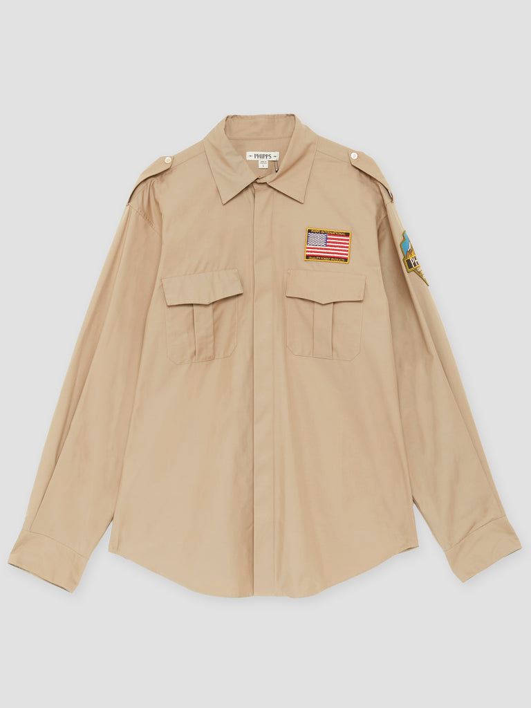Phipps Beige Forest Guardian Overshirt