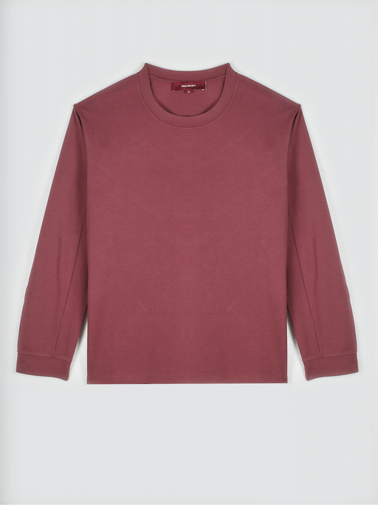 Sies Marjan Luca Thick Cotton T-Shirt Burgundy