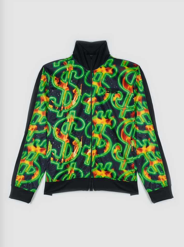 SSS World Corp Fire Dollar Track Top