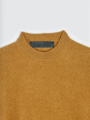 The Elder Statesman AW19 Crew Neck Cashmer Sweater Caramel