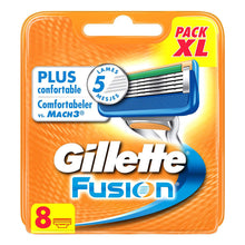 Gillette Fusion Razor Blade Comfortable Shave Head Cartridge Refills 8 Pack XL