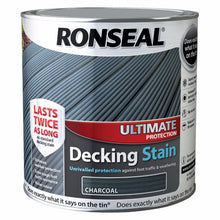 Ronseal 2.5L Ultimate Protection Decking Stain Rich Colour Tough Paint Charcoal