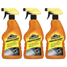 Armor All Protectant Gloss Finish 3 x 500ml Spray Car Care Cleaning Interior Exterior - Protect Dashboard Trim Plastic Vinyl Rubber and More