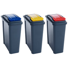 AMOS 25L Recycling Bin Slim Waste Rubbish Sorting Plastic Recycle Container with Lid