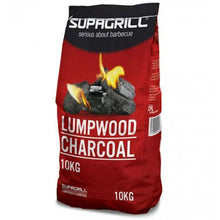Supagrill Lumpwood Charcoal 10KG Hardwood Easy to Light BBQ Barbecue Grill Fuel