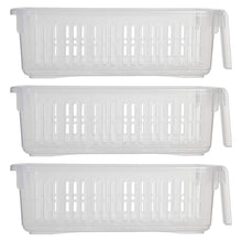 Whitefurze 24 cm Small Caddy Basket Plastic Shelf Cupboard Storage Organiser
