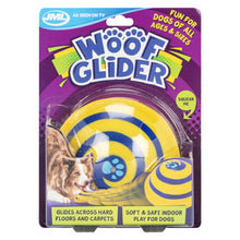 JML Woof Glider Dog Toy Squeak Soft Safe Indoor Disc Fun All Sizes Floor Carpets