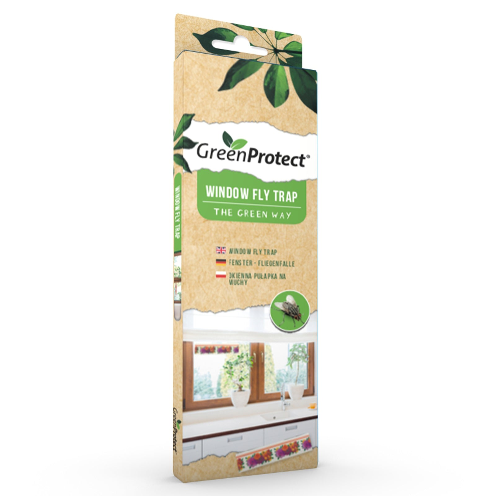 Green Protect 6 x Window Fly Trap Stickers Eco-Friendly