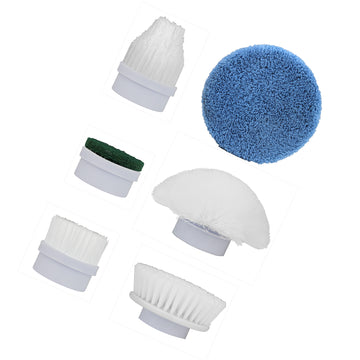 AMOS Super Scrubber Replacement Spare Brush Heads Bathroom Kitchen Spin Cleaning