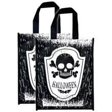 2 x Halloween Trick Or Treat Tote Bags Candy Sweet Holder Carrier Party Loot
