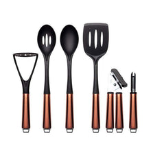 Sabichi 6 Piece Utensil Set Copper Stainless Steel Soft Touch Handle