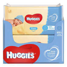 Huggies Pure Jumbo Pack 10 x 72 Baby Wipes Pure Water No Perfume Skin Loving