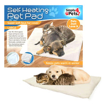 Simply 4 Pets Self Heating Pet Pad Large Super Soft Faux Fur Mat Bed Cat Dog
