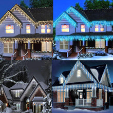 240 LED Snowing Effect Icicle Lights 7m Christmas Indoor Outdoor Timer Memory