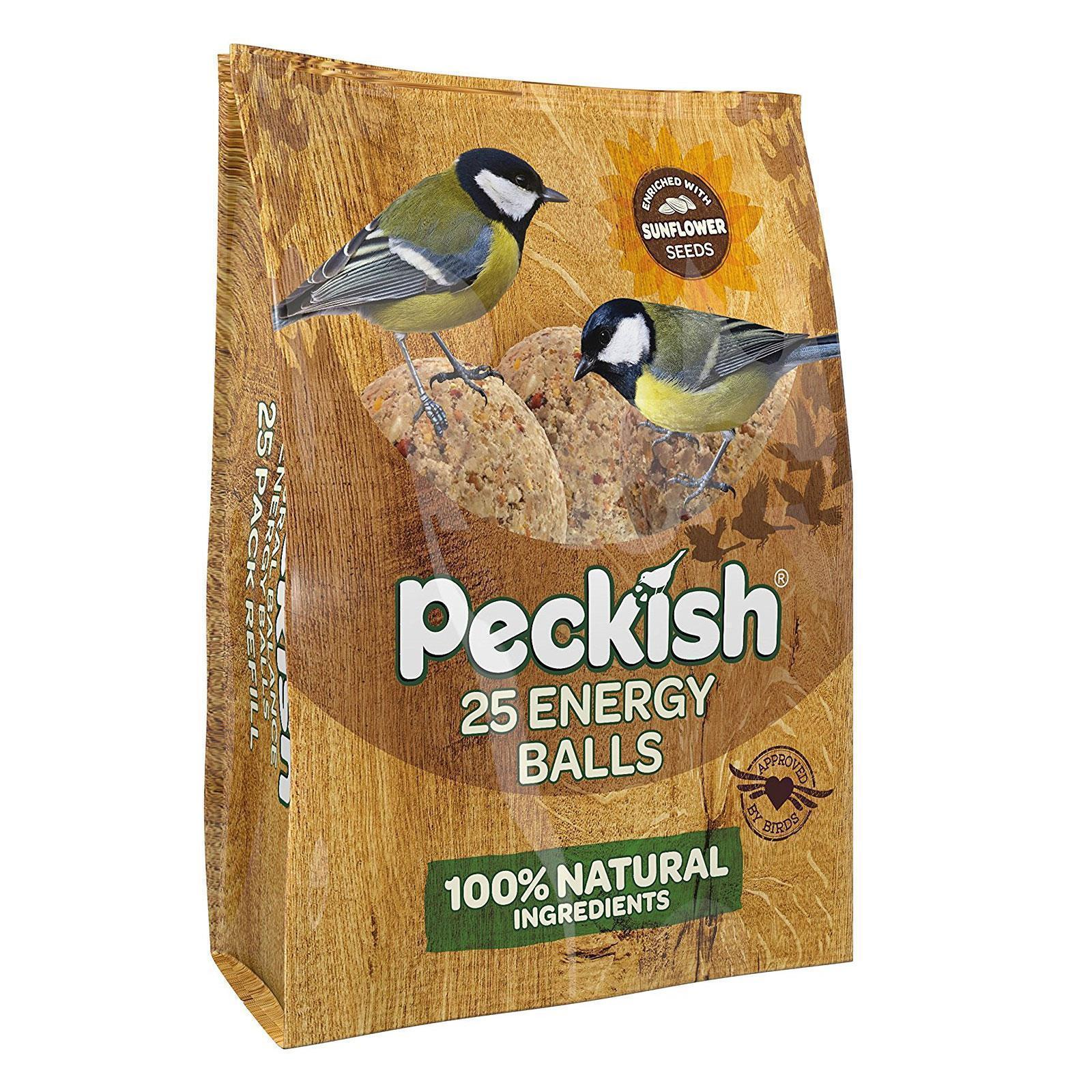 Peckish 25 Natural Balance Energy Suet Fat Balls 2kg Wild Garden Bird Feed