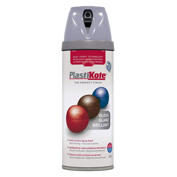 PlastiKote Twist & Spray Paint 400ml - Gloss - Multi-Surface Various Colours