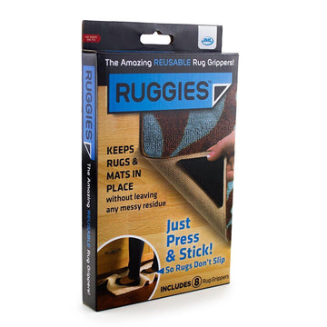 JML Ruggies Anti-Slip Rug Grippers - Press & Stick on (8 Pack) Re-Usable