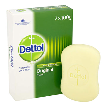 Dettol Anti-bacterial Soap Bar Twin Pack 2 x 100g Bath Shower Clean Fresh Scent