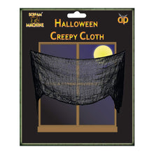 Scream Machine Creepy Cloth 71cm x 183cm - Black - Halloween Spooky Decoration