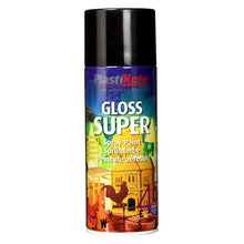 PlastiKote 1100 Gloss Super Spray Paint Black 400ml Metal Paper Wood Plastic Wicker