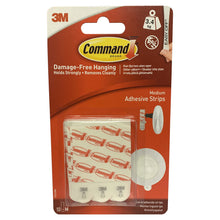 3M Command Medium 10 Adhesive Strips 17021 Holds 3.4kg Damage Free Wall Hanging