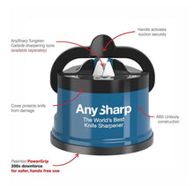 AnySharp Global World's Best Knife Sharpener Tool Utensil Gadget Blue