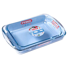 Pyrex Essentials Set of 2 Rectangular Glass Roaster Dishes Baking Roasting Cooking