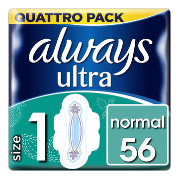 Always Ultra Normal Size 1 56 Pads Pack Absorbent Protection Comfortable