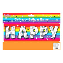 Fun Machine 10m Happy Birthday Party Banner Fun Colourful Rainbow Decoration