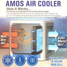 AMOS Air Cooler Portable Home Conditioner Fan 3 Speed Water Cooling Humidifier