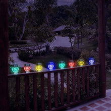 Planet Solar Crystal Diamond Stake Lights Solar Powered Colour Changing 4 Pack Outdoor Garden