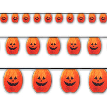 Scream Machine Pumpkin Pennants 3.65m - 10 Pack Halloween Bunting