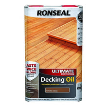 Ronseal Ultimate Protection Decking Oil Sun Rain Protector Natural Cedar 5L