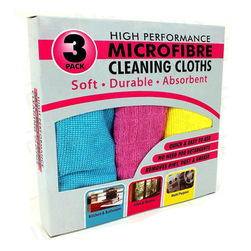 TidyZ High Performance Microfibre Cleaning Cloths Multi Purpose 3 Pack