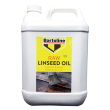 Bartoline Raw Linseed Oil 5L 5 Litre Nourishes Protects Wood Replaces Natural Oils