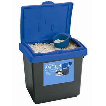 30 Litre Grit Rock 25KG Salt Bin Dustbin De-Ice Outdoor Container w/ Scoop