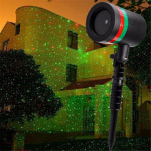 Laser Star Lights Show Moving Red Green Christmas Shower House Garden Projector Lamp