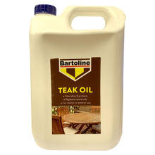 Bartoline Teak Oil 5L Nourishes Protects Indoor Outdoor Wood Replaces Oils