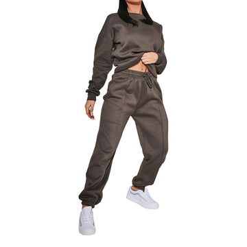 Ladies Womens Jumper Sweatshirt Jogger Sweat Set Oversized Baggy Casual Lounge 6-14