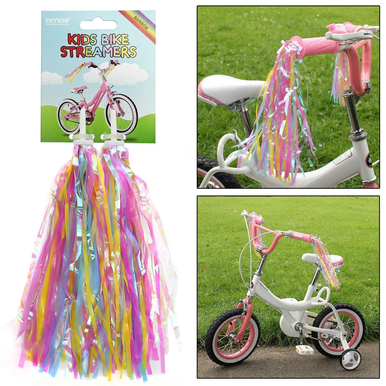1 Pair Children Bike Streamers Bicycle Handlebar Ribbon Kids Scooter Tassel~PA