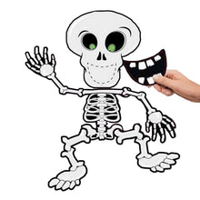 Scream Machine Blindfold Halloween Party Game - Pin the Smile on the Skeleton