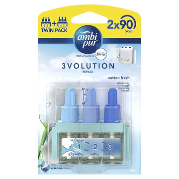 Ambi Pur 3Volution 2 Refills/Twin Pack - Cotton Fresh - Air Freshener Scent