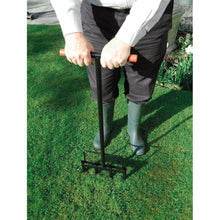 Garland Heavy Duty Hollow Tine Lawn Aerator Manual Soil Grass Garden Steel Tool