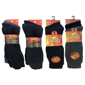 AMOS Mens 6-11 Thermal Socks 3 Pack Thick Warm Winter Casual Outdoor Hiking Work Boot