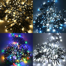 240 LED Cluster Christmas Lights 3.1m Auto Turn On Multi Function Timer Memory Indoor Outdoor