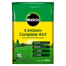 Miracle Gro Evergreen Complete 4 in 1 200m2 7kg Lawn Feed Weed Moss Killer