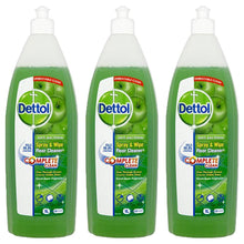 Dettol 1L Anti Bacterial Spray & Wipe Floor Cleaner Green Apple 1 Litre