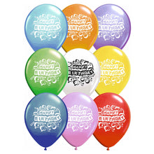 Fun Machine Happy Birthday Balloons 16 Pack Assorted Colours Latex Party