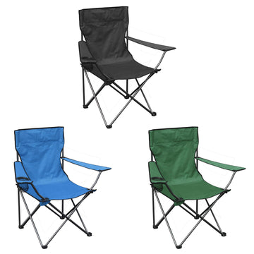 AMOS Folding Camping Chair Cup Holder Carry Bag Lightweight Portable Fishing Seat