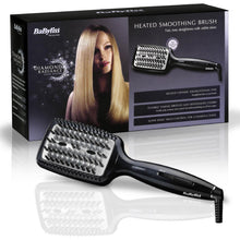 Babyliss 2440BDU Diamond Radiance Heated Smoothing Straighening Brush Black